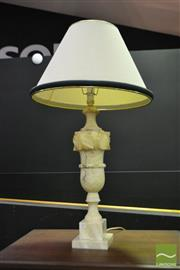 Sale 8523 - Lot 1018 - Carved Marble Table Lamp