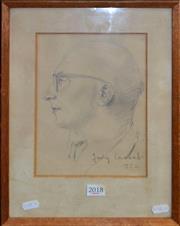 Sale 8522 - Lot 2004 - Judy Cassab (1920 - 2015) - Portrait, 1952 24 x 17cm