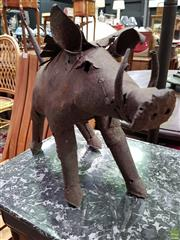 Sale 8562 - Lot 1044 - Rustic Metal Warthog Figure