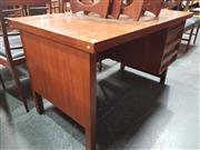 Sale 8839 - Lot 1035 - Single Pedestal 1960s Danish Teak Knee Hole Desk