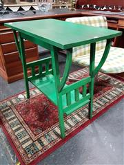 Sale 8769 - Lot 1018 - Green Painted Tiered Timber Occasional Table