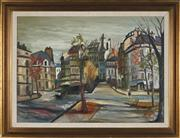 Sale 8821 - Lot 594 - Artist Unknown - Street Scene 54.5 x 74.5cm