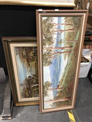 Sale 8819 - Lot 2071 - G. Thompson (2 works) Australian Country Scenes acrylic on board, signed lower