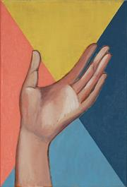 Sale 8833 - Lot 2014 - J. Chew Untitled, 2017 (Hand) acrylic on canvas, 31 x 21cm, signed and dated verso -