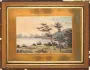 Sale 8929 - Lot 569 - Charles F. Gerrard (1849 - 1904) - Harbour View Scene with Two Figures 29 x 43.5 cm