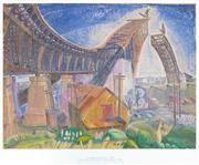 Sale 8938A - Lot 5020 - Grace Cossington Smith (1892 - 1984) - Bridge In Curve, 1994 53.5 x 71 cm (frame: 80 x 92 x 4 cm)