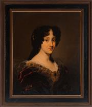 Sale 8976H - Lot 70 - Nicolas de LARGILLIERE (Paris 1656 - 1746), attrib. Portrait of Maria Manzini  oil on Canvas   70 x 57cm.  According to inform...