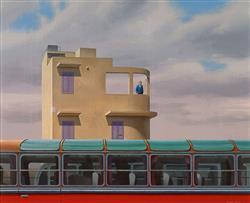 Sale 9096A - Lot 5064 - Jeffrey Smart (1921 - 2013) - Near Knossos, 1973 45.5 x 55 cm