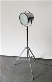 Sale 9063 - Lot 1023 - Metal Theatre Style Light On Tripod Stand (H126cm)