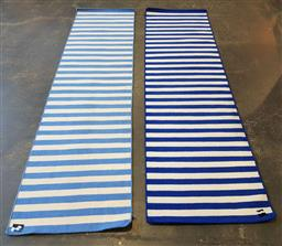 Sale 9191 - Lot 1067A - Pair of modern wool rugs (Light Blue - 298 x 80cm Dark Blue - 290 x 83cm)
