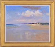 Sale 8344 - Lot 555 - Kenneth Knight (1956 - ) - Beach Scene 61.5 x 74.5cm