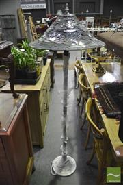 Sale 8361 - Lot 1062 - Leadlight Shade Standard Lamp
