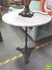 Sale 8406 - Lot 1028 - Marble Top Table (60cm)