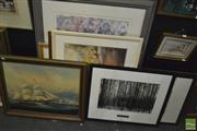 Sale 8425T - Lot 2071 - Collection of (8) Various Artworks Including: Etchings, Photographs & Decorative Prints, various sizes
