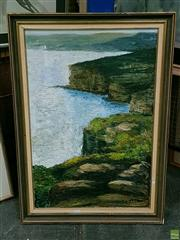 Sale 8582 - Lot 2157 - Diana Buckley View from North Head, oil, SLR, 75x49.5cm