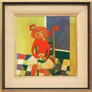Sale 8773A - Lot 5021 - Madelaine (Mardi) Daens - The Doll 22 x 22cm