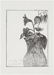 Sale 8870A - Lot 533 - Charles Blackman (1918 - 2018) - Untitled (Still Life), 2009 31 x 22.5 cm