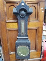 Sale 8889 - Lot 1058 - Timber Barometer