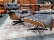 Sale 8930 - Lot 1055 - Eames 670 and 671 Chair and Footstool by Herman Miller