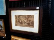 Sale 9061 - Lot 2041 - Artist Unknown Cant b Beat (Rickshaw Drivers & Passengers), original photograph, frame: 37 x 49 cm -