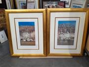 Sale 9082 - Lot 2067 - A pair of Arthur Boyd decorative prints Shoalhaven, frame: 96 x 77 cm, signed in print -