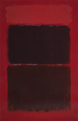 Sale 9174JM - Lot 5001 - MARK ROTHKO (1903 - 1970) Light Red Over Black, 1957 serigraph 74.5 x 113.5 (frame: 105 x 146 x 3 cm) unsigned