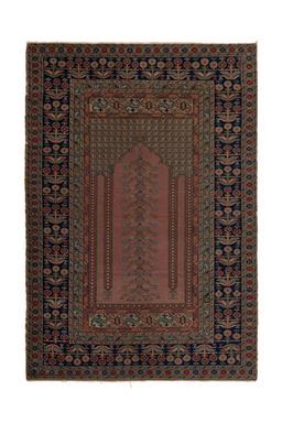 Sale 9185C - Lot 7 - TURKISH KAYSERI PRAYER RUG, 120X175CM, HANDSPUN WOOL00