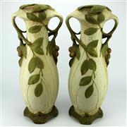 Sale 8288 - Lot 55 - Royal Dux Pair of Vases