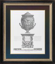 Sale 8342A - Lot 63 - An Italian study of an urn after the Antique in black and gilt frame, 90 x 77cm inc. framing