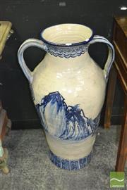 Sale 8440 - Lot 1007 - Large Ceramic Double Handled Jardiniere