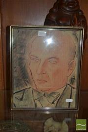 Sale 8522 - Lot 2059 - Maximilian Feuerring (1896 - 1985) - Portrait 29 x 23.5cm