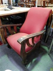 Sale 8601 - Lot 1134 - Timber Framed Armchair