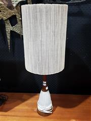 Sale 8705 - Lot 1030 - Teak and Ceramic Vintage Table Lamp