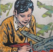 Sale 8738 - Lot 522 - David Bromley (1960 - ) - The Young Pilot, 2009 61 x 61cm