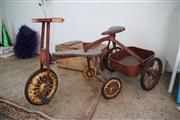 Sale 8825A - Lot 84 - Vintage child's trike and trailer