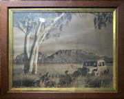 Sale 8853 - Lot 2024 - 1920s Photograph of Campers in the Outback, 62 x 85cm (frame) -
