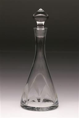 Sale 9114 - Lot 46 - Cut crystal decanter (H:33cm)