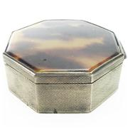 Sale 8292 - Lot 6 - Austrian Silver 900 Standard Tortoise Shell Container