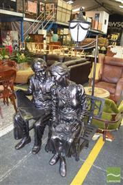Sale 8390 - Lot 1338 - Grandpa and Grandma Pickles Figural Lamp