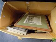 Sale 8471 - Lot 2063 - Box of Assorted Artworks including original watercolours and decorative print (framed/various sizes)