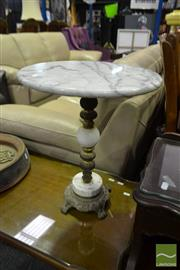 Sale 8520 - Lot 1091 - Marble Wine Table