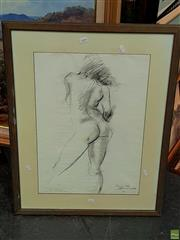 Sale 8582 - Lot 2164 - Alan Somerville, Rosie, Pencil, SD96LR, 56.5x39.5cm