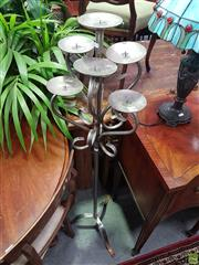 Sale 8601 - Lot 1030 - Metal Seven Arm Candle Holder