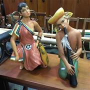 Sale 8607 - Lot 1092A - Lenci Pair of Italian Ceramic Figures by Le Berletti Mexican Couple