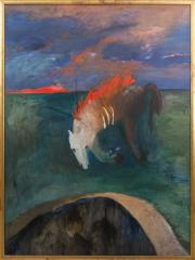 Sale 8677B - Lot 564 - Adriane Strampp, b.1960 Untitled, oil on canvas, 196 x 145 signed lower left