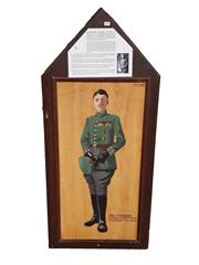 Sale 8809B - Lot 608 - Max Immelmann. The Eagle of Lille. 15 Victories. First Generation of German Fighter Pilot Aces. Double Sided Wall Plaque. B.R Moss (...