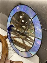 Sale 8876 - Lot 1060 - Leadlight Dolphin Mirror