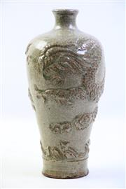 Sale 8997A - Lot 664 - Crackle Glaze Dragon Themed Song Style Vase H: 26cm