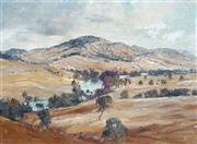 Sale 9038 - Lot 502 - Terry Gleeson (1934 - 1976) - The Murrumbidgee River at Jugiong 44.5 x 59.5 cm (frame: 61 x 77 x 4 cm)
