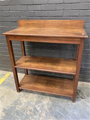 Sale 9051 - Lot 1005 - Oak Servery (h:119 x w:107 x d:45cm)